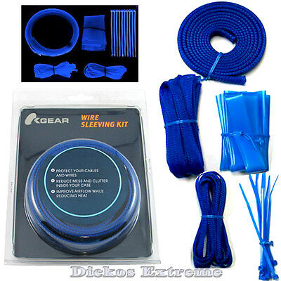 UV Blue Expandable cable sleeving kit- D.I.Y Mod Kit.