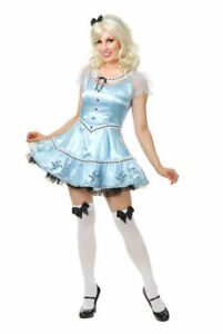 Sexy Alice Wonderland Adult Halloween Costume X Small 3 5 Ebay
