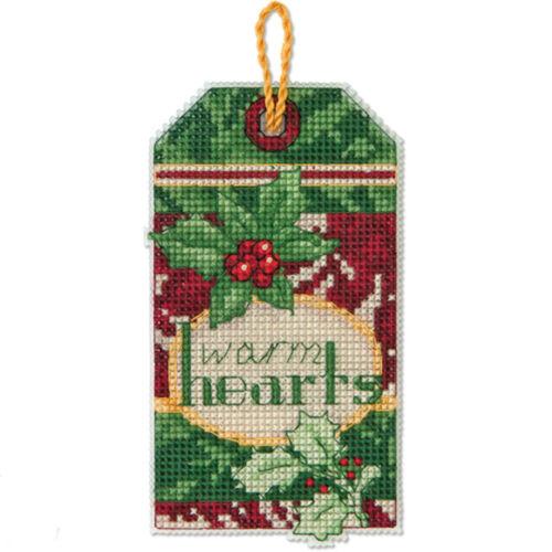 Cross Stitch Kit ~ Dimensions Warm Hearts Christmas Ornament #70-08892