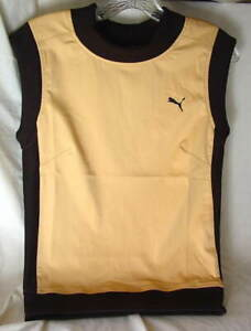 Lot-of-5-PUMA-Retro-Gold-Stretch-Athletic-Shirts-Womens-size-XS-and-MED-NEW