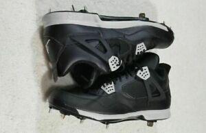NEW-Nike-Air-Jordan-IV-Retro-Metal-Baseball-Cleats-Black-807710-010-Men-039-s-Sz-8-5