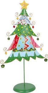 Weihnachtsbaum Metall.Details Zu Deko Tannenbaum Weihnachtsbaum Metall Auf Holzfuss Ca 27 X 12 X 46 Cm