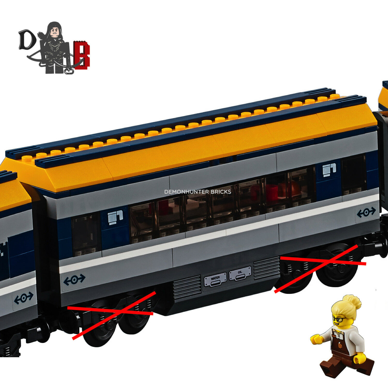 LEGO Buffet City Passenger train 60197 Buffet LEGO Carriage only - No bogies Wheels 4aad93