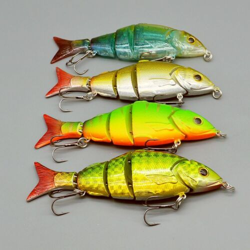 High Quality 4pcs Lot Jointed Bait Swimbait Bass Fishing Lures 12.8cm//22g Tackle