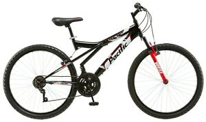 NEW Pacific Evolution 26-inch Mens Steel Frame Mountain Bike-Black