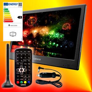 Lenco TFT-1028 BK tragbarer DVB-T2 HD LED-TV 12V 230V Fernseher USB HDMI EEK E