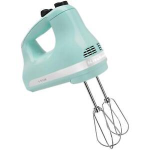Ultra-Power-5-Speed-Ice-Blue-Hand-Mixer-Kitchen-Utensils-Beater-Small-Appliance