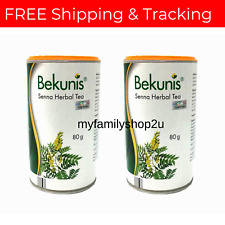 Bekunis Laxative Herbal Tea for Constipation Relief 80g X 2 Sets