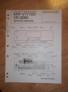 kenwood krf v7772d vr 3080 audio video surround receiver repair manual