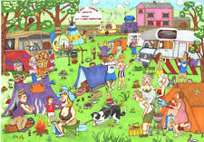 The House Of Puzzles - 1000 PIECE JIGSAW PUZZLE - Happy Campers Cartoon