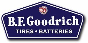 VINTAGE BF GOODRICH GASOLINE SUPER HIGH GLOSS OUTDOOR DECAL STICKER