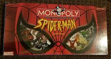 Monopoly Marvel Spider-Man Collector's Edition Board Game Pewter Tokens EUC 2002