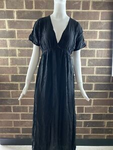 NWT-Hard-Tail-Women-039-s-Spa-Maxi-Dress-Color-Black-Size-Small