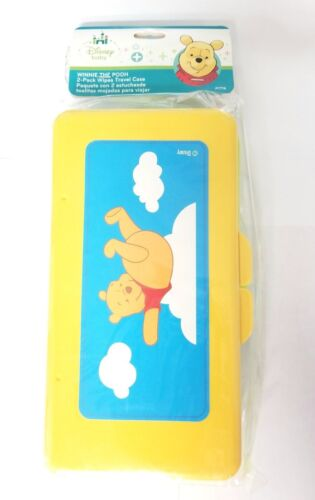 DisneyPack of 2Winniethe Pooh Travel Baby Wipe CasesRefillable Neutral Color