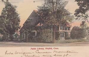 Antique-POSTCARD-c1907-Public-Library-NORFOLK-CT-17103