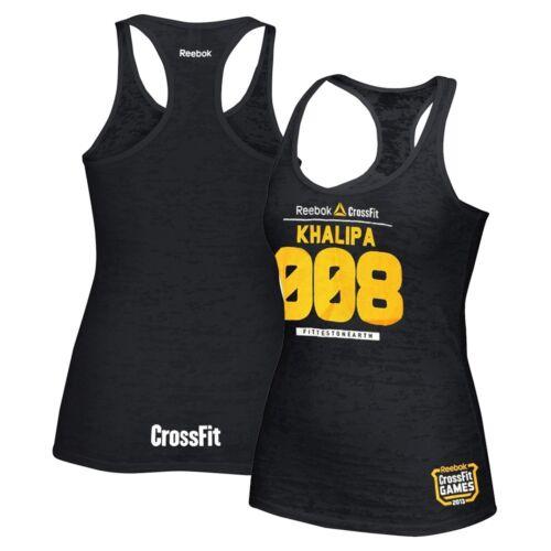 Reebok CrossFit Games 2013 Jason Khalipa 008 Women/'s Black Burnout Tank Top