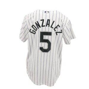 super popular 59883 499a4 Details about Colorado Rockies MLB Majestic Cool Base Kids Youth Size  Carlos Gonzalez Jersey