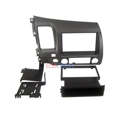 Double//Single DIN w//Pocket Radio Dash Mounting Kit for 2006-2011 for Honda Civic
