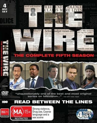1 of 1 - The Wire : Season 5 (DVD, 2010, 4-Disc Set)