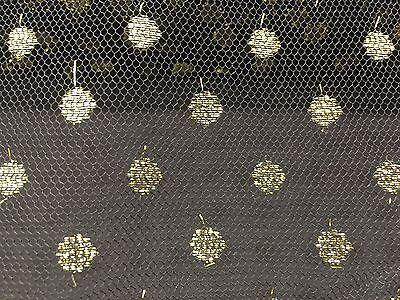 Riley Blake Fabric Sparkle Damask Gold HALF METRE