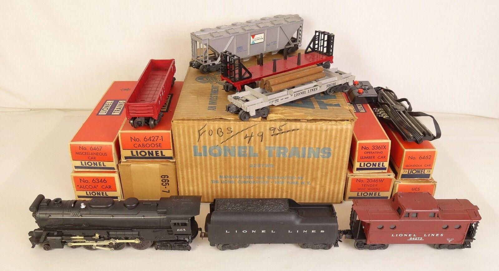 Lionel Set  2257WS W  665 LOCOMOTIVE2046W Tender & Freights Ln W  OB'S &