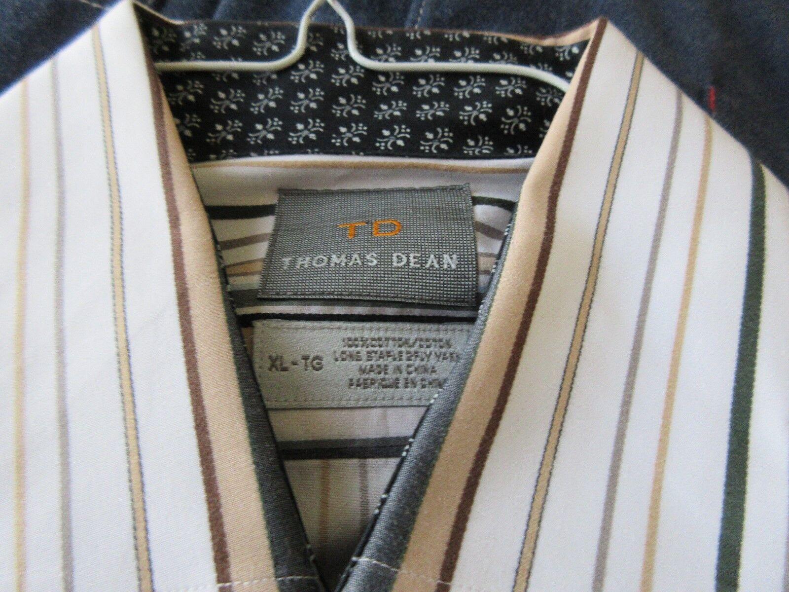 TD , Thomas Dean , Men's Long Sleeve Shirt , XL/TG , 10
