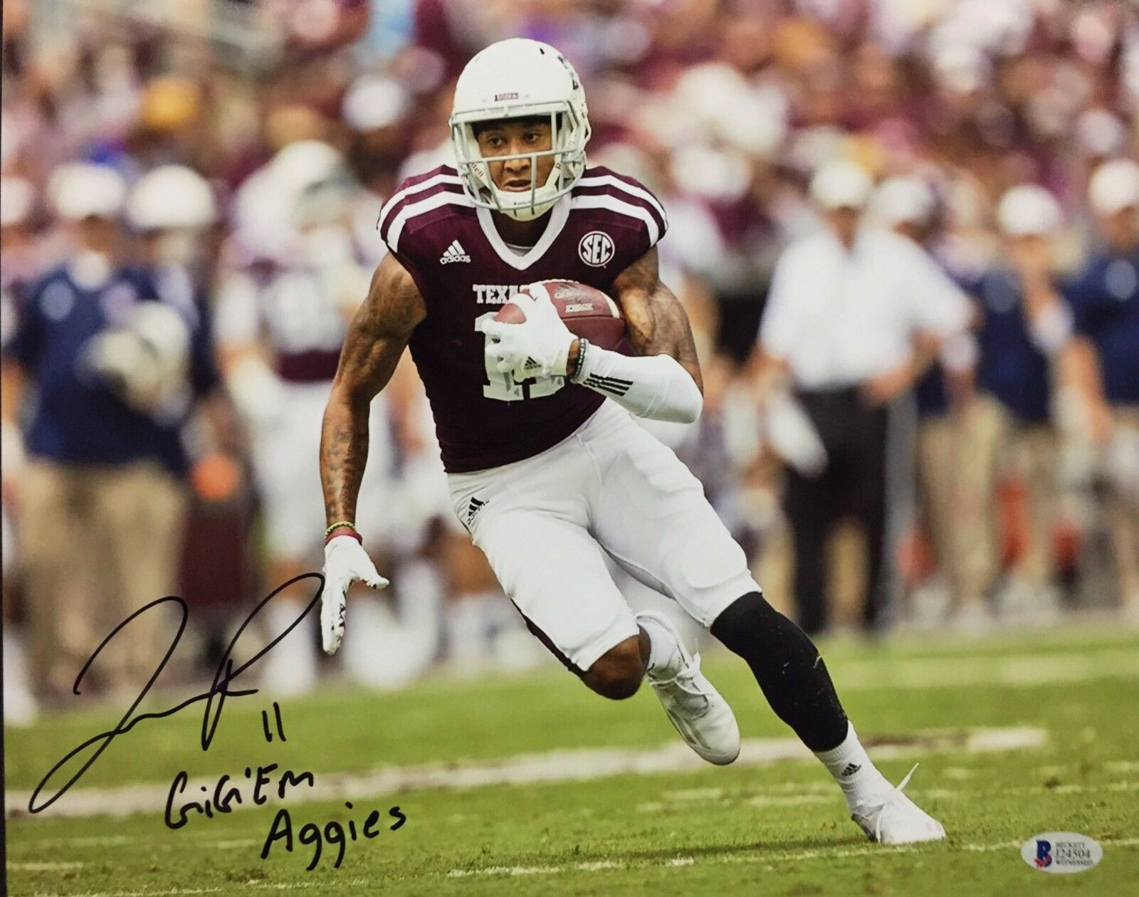 Josh Reynolds Signed Texas A&M Football 11x14 Photo