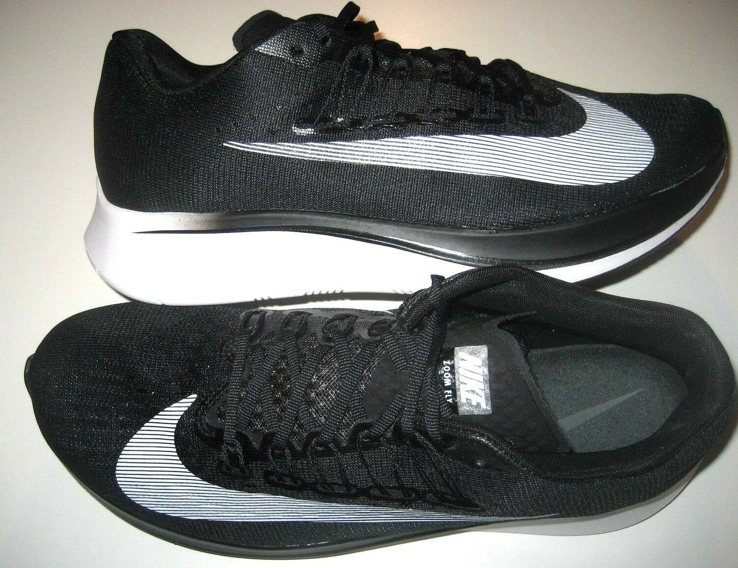 Nike Mens Zoom Zoom Zoom Fly Running shoes Black White Anthracite Size 10.5 880848 001 New 473b88