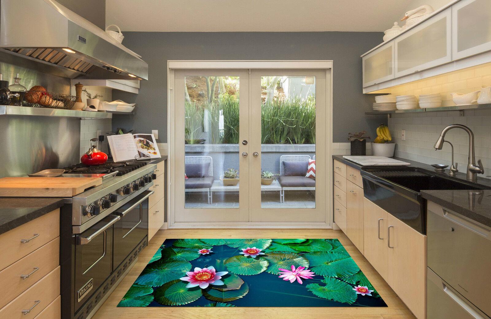 3D Lotus Pond 183 Kitchen Mat Floor Murals Wall Print Wall Deco AJ WALLPAPER CA