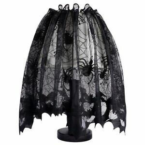 Image Is Loading Spider Web Bat Black Lace Cover Decoration