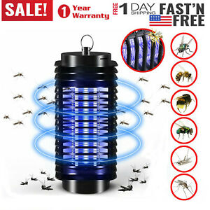 Large-Electric-Insect-Bug-Zapper-Fly-amp-Mosquito-Killer-Trap-Lamp-110V-Aluminum