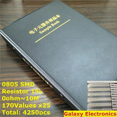 0805 SMD Resistor and Capacitor Components Sample Book Kit Full Version