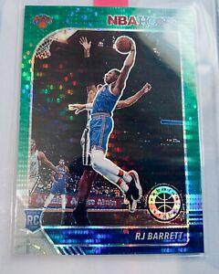 R.J. Barrett 2019-20 Panini NBA Hoops Premium Stock Pulsar Green Prizm #201 RC