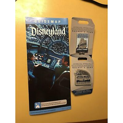 Disneyland Exclusive Star Wars Galaxy's Edge Annual Passholdeer Pin & map