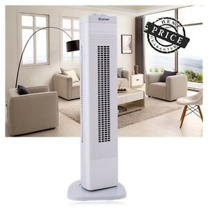 3-Speed-Bladeless-Oscillating-Tower-Fan-Cooling-Air-Portable-Floor-Conditioner