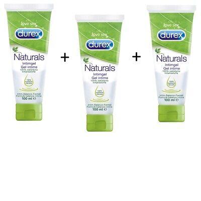Durex Naturals Intimgel 300ml 3er Pack Erlebnisgel Gleitmittel wasserbasiert