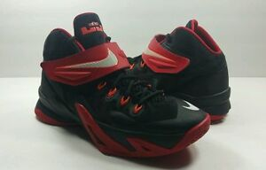 0eb4265d621 Nike Zoom Lebron James Soldier 8 Black Red Basketball - Size 6Y