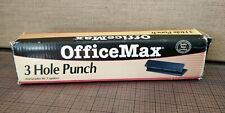 New Vintage Office Max 3 Hole Punch