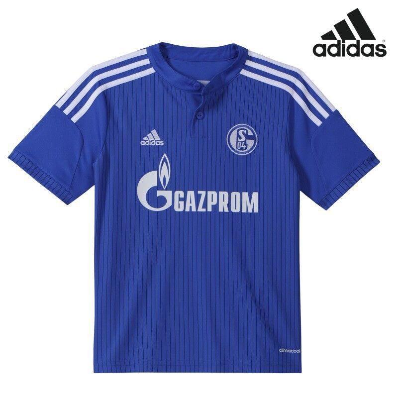 Adidas FC Schalke 04 Heimtrikot Kinder Home Jersey 2014 2016 blau weiß  | Neuartiges Design