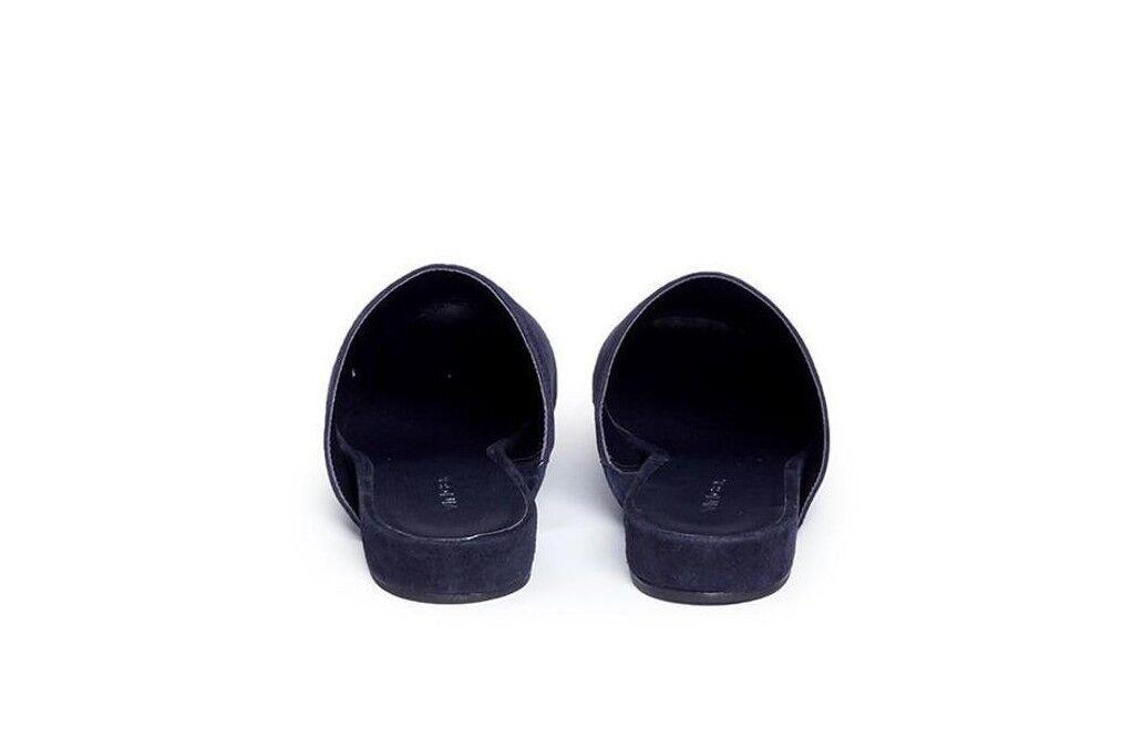 NIB NIB NIB Vince Oren Suede Flat Mule Slide Loafer Sandal Coastal (Dark Navy)  250 242ee8