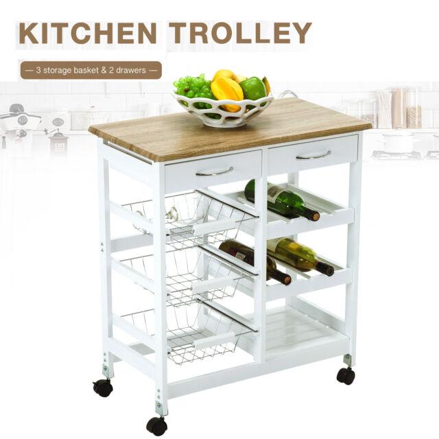 Kitchen Island Cart Trolley Portable