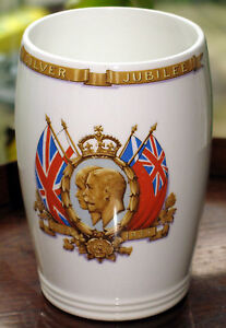 Commemorative-King-George-amp-Queen-Mary-Silver-Jubillee-Beaker-Presented