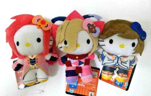 Hello Kitty x Tales of Series Plush Doll Mascot x3 Magilou Zelos Sorey NAMCO F//S