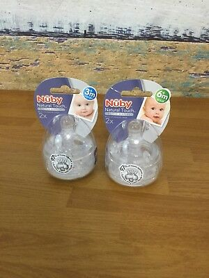 NUBY NATURAL TOUCH a bottle Nipples 2 Recommended Storage CASE SEALED 3mos