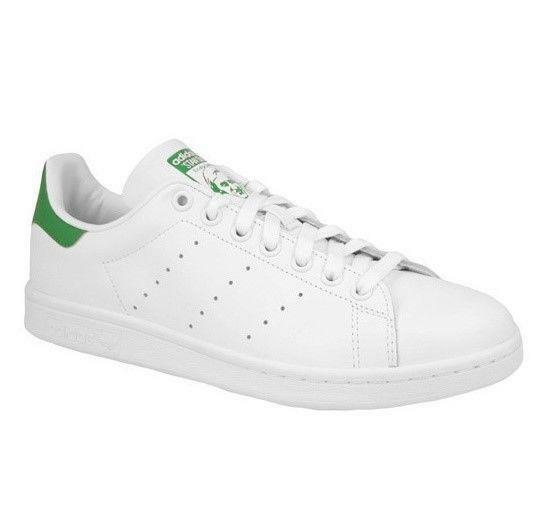 Mens ADIDAS STAN SMITH Weiß Leather Leather Leather Casual Trainers M20324 4489fb
