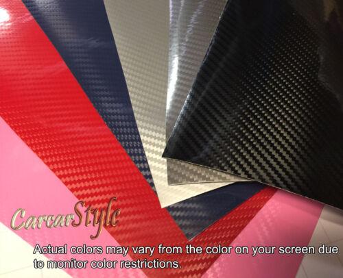 5D gloss brillant 750 mm x100mm Fibre De Carbone Vinyle Wrap Autocollant pour conditionnement