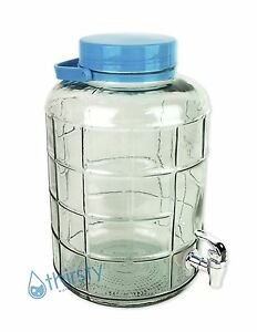 3 Gallon Glass Water Bottle w Faucet Carboy Canteen Jug Container