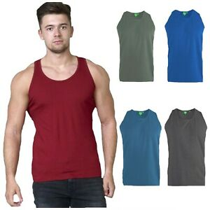 shirt M New Men/'s Summer Sleeveless V Neck Plain Cotton Vest Tank Top T XXL