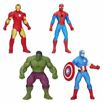 Avengers All-Star 6-Inch Action Figures Hulk Spider-Man Iron Man Captain America
