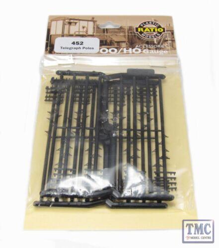 16 per pack OO Gauge Plastic Kit 452 Ratio Telegraph Poles
